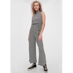 Sleeveless Mockneck Jumpsuit