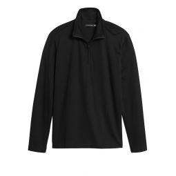 Luxury-Touch Performance Half-Zip T-Shirt