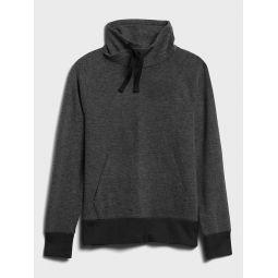 Funnel-Neck Birdseye Fleece Sweatshirt