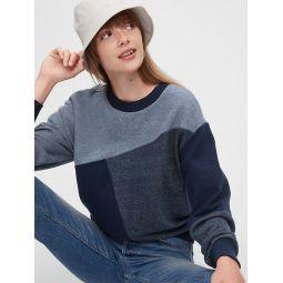 Patchwork Pullover Sweatshirt