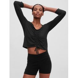 GapFit Brushed Jersey Cinched Front T-Shirt