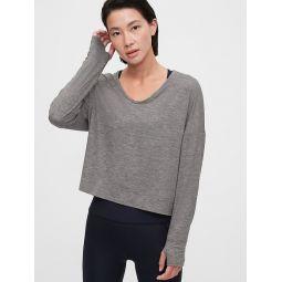 GapFit Brushed Jersey Knot-Front T-Shirt