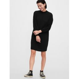 Fleece Crewneck T-Shirt Dress